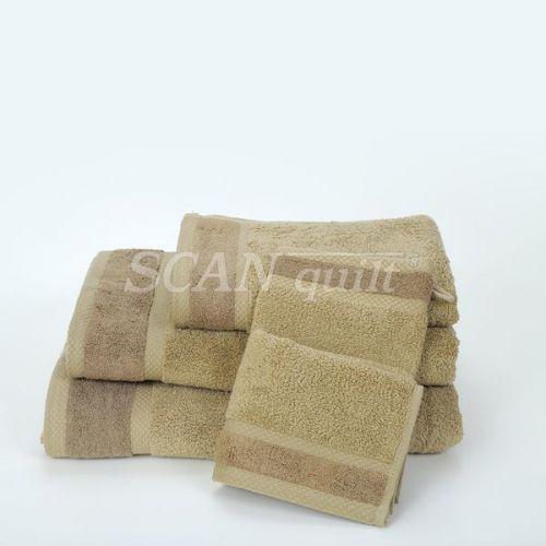QUILTEX - Froté uteráky, osušky BAMBOO hnedá - 15x21 cm