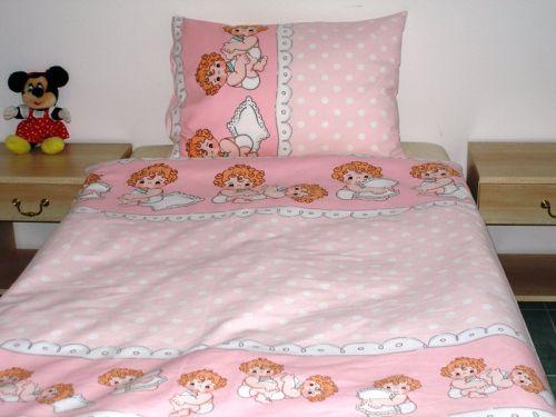 EVENIT - BABY Posteľné obliečky Anjelikovia v ružovom 32C - Bavlna - 90x130 cm