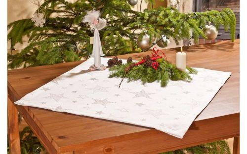 EVENIT - Vianočný obrus strieborný 60x60 cm - Polyester