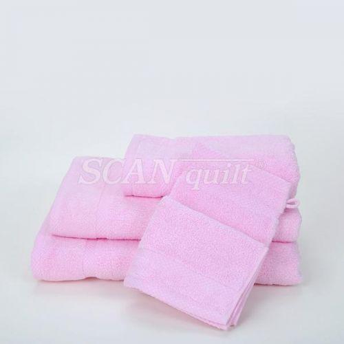 QUILTEX - Froté uteráky, osušky BAMBOO ružová - 30x50 cm