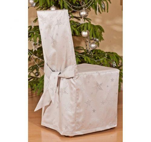 EVENIT - Vianočný návlek na stoličku strieborný - Polyester