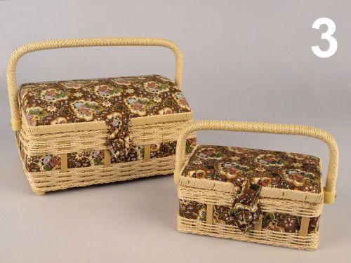 - Košíky na šijace potreby DANKA hnedá č.3 - 2 kusy súprava cena od 0,00 €