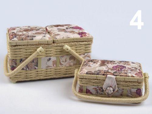 - Košíky na šijace potreby Evička krémová č.4 - 2 kusy súprava cena od 0,00 €