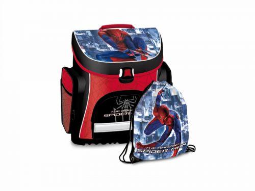 DISNEY SPIDERMAN - Kompaktná školská taška+taška na prezúvky 381 SPIDER12