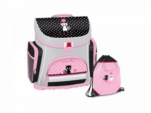 DISNEY THINK PINK - Kompaktná školská taška+taška na prezúvky 381 ThinkPink