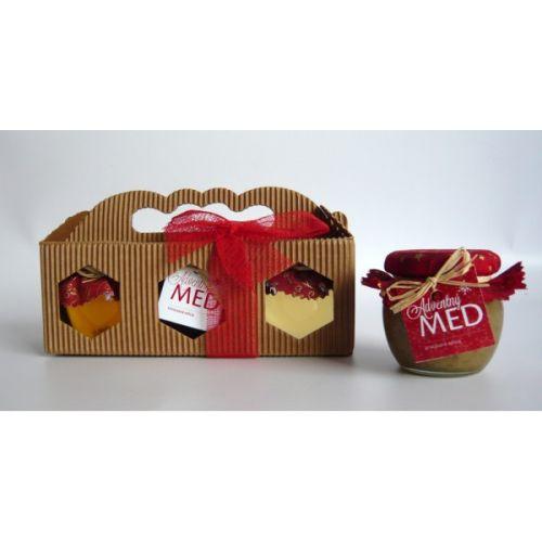 - Darčekový balíček - papierová krabička s 3 medmi cena od 0,00 €