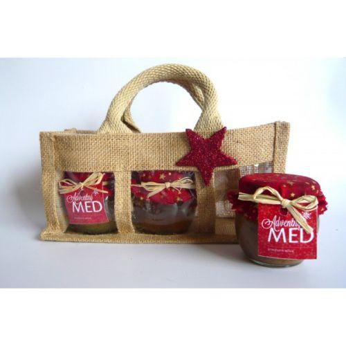 - Darčekový balíček - Jutová taška na 3 ks medu cena od 0,00 €