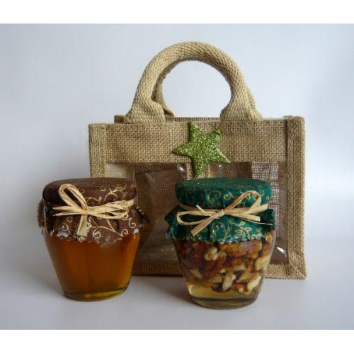 - Darčekový balíček - Jutová taška na 2 ks medu cena od 0,00 €