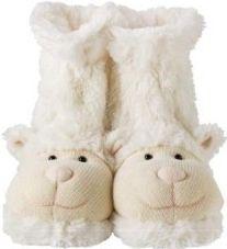 Ponožkové papuče - ovečka