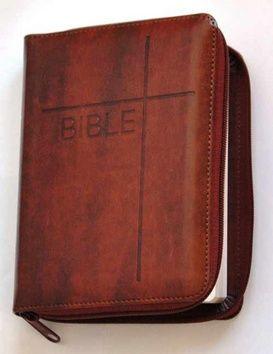 Česká biblická společnost Bible se zipem, umělá hnědá kůže cena od 0,00 €