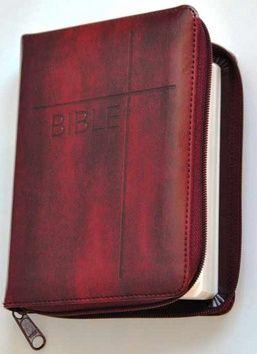 Česká biblická společnost Bible se zipem, umělá vínová kůže cena od 0,00 €