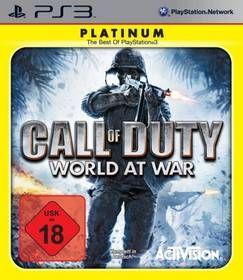 Activision Call of Duty World At War Platinum pro PS3