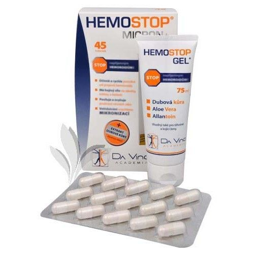 Simply You HemoStop Micron+ 45 tob. + HemoStop Gel 75 ml ZDARMA