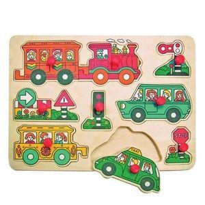 Woody Puzzle na desce Doprava
