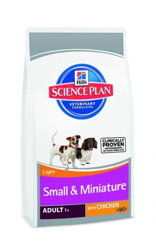 Hill´s Canine Small & Miniature Adult Light 1,5 kg cena od 0,00 €