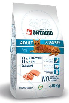 ONTARIO Cat Adult Ocean Fish 10 kg