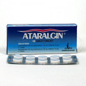 ATARALGIN 10 tablet cena od 0,00 €