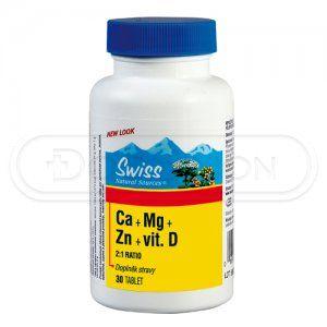 Citráty Ca+Mg+Zn+vitamin D 30 tobolek