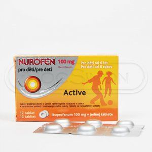 NUROFEN PRO DĚTI ACTIVE 100 mg 12 tablet