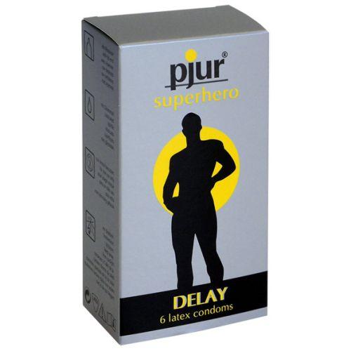 Pjur Superhero Delay Condoms 6 ks
