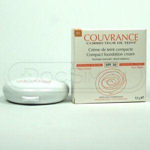 Avene Couvrance kompaktní make-up výživná textura odstín 03 Beige SPF 30 (Compact Foundation Cream Rich Formula) 9,5 g cena od 0,00 €