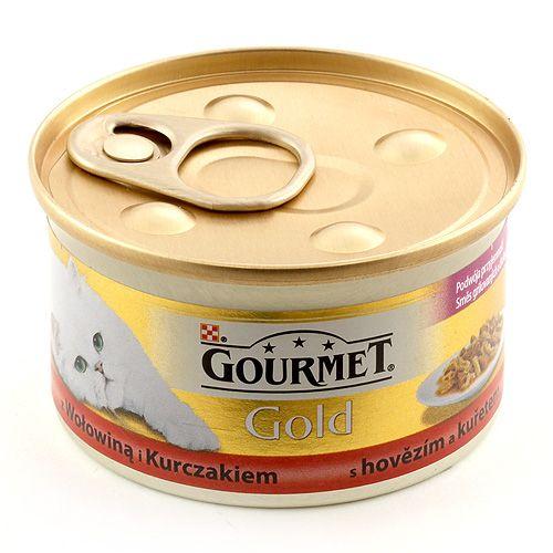 Purina GOURMET GOLD mix hovězí a kuře 85 g