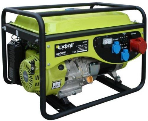 EXTOL CRAFT Elektrocentrála benzínová 13HP, 3f, 6,0kW