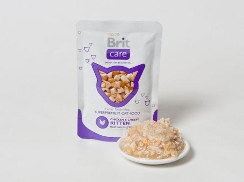 Brit Care Cat Chicken & Cheese Kitten 80 g cena od 1,00 €