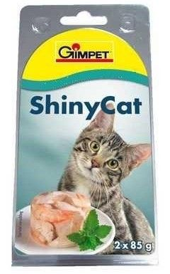 Gimpet Shiny Cat Kuře a Krevety 2x85 g cena od 0,00 €