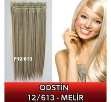 Clip in vlasy - 60 cm dlhý pás vlasov - odtieň 12/613 SVĚTOVÉ ZBOŽÍ