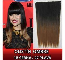 Clip in vlasy - 60 cm dlhý pás vlasov - ombre štýl 1B/27 PLAVÁ SVĚTOVÉ ZBOŽÍ