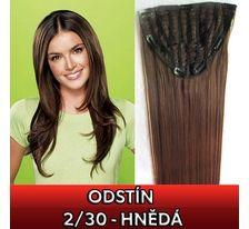 Clip in pás - Jessica 65 cm rovný - 2/30 - hnedý SVĚTOVÉ ZBOŽÍ