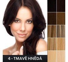 Ľudské vlasy - Clip in sada Remy - 55 cm - 7 dielna - odtieň 4 - tmavo hnedá  SVĚTOVÉ ZBOŽÍ 6cf44f22f5e