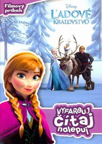 Ľadové kráľovstvo - Vyfarbuj, čítaj, nalepuj cena od 3,78 €