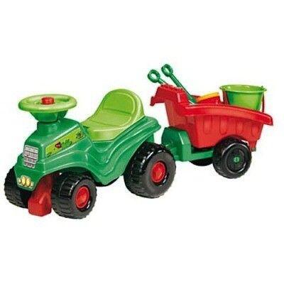 ECOIFFIER traktor s prívesom a hračkami do piesku