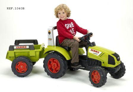 FALK Šliapací traktor 1040B Claas Arion 430 s vlečkou
