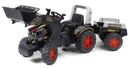 FALK Šliapací traktor 1075M Farm King s nakladačom a vlečkou