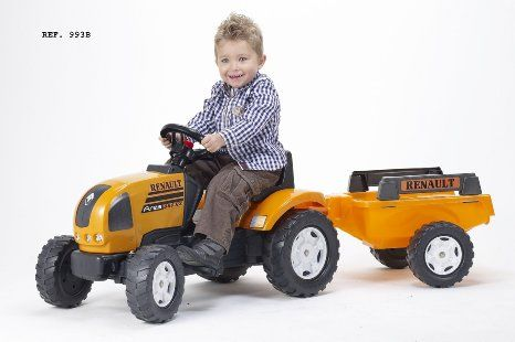 FALK Šliapací traktor 993B Renault s vlečkou
