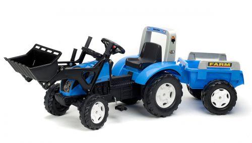 FALK Šliapací traktor 1050M Landini Power Mondial nakladačom a vlečkou