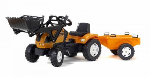 FALK Šliapací traktor 993M Reanault s nakladačom a vlečkou
