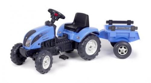 FALK Šliapací traktor 2050CM Landini s nakladačom a vlečkou