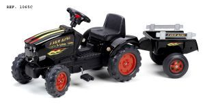 FALK Šliapací traktor 1065C Farm King s vlečkou