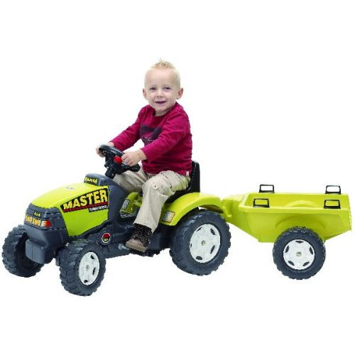 FALK Šliapací traktor 963A Farm Master s vlečkou