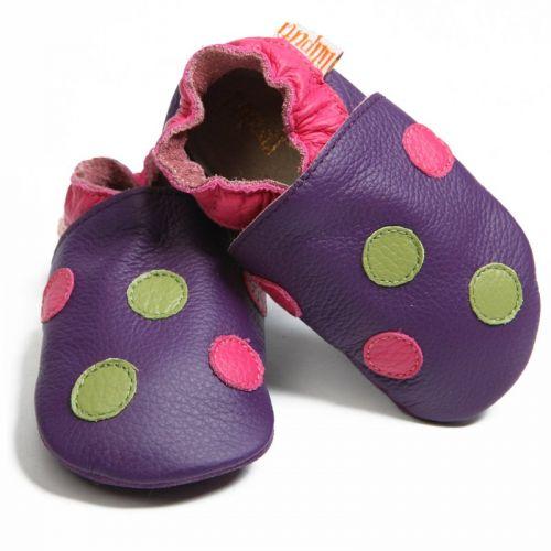 LILIPUTI Topánky fialové bodkované