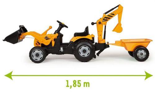 SMOBY Stavebný traktor MAX s vozíkom a radlicou