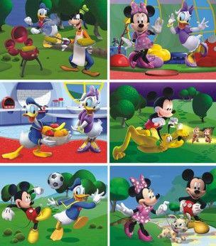 DINOTOYS Drevené kocky Mickey Mouse