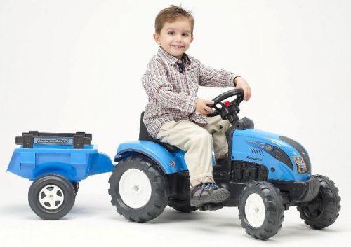 FALK Šliapací traktor 2050C Landini s vlečkou