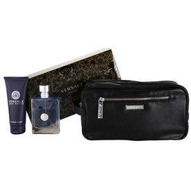Versace pour Homme darčeková sada VII. toaletná voda 100 ml + sprchový gel 100 ml + kozmetická taška 25 x 10,5 x 12 cm
