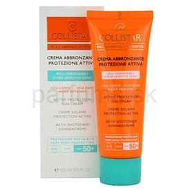 Collistar Speciale Abbronzatura Perfetta krém na opaľovanie pre citlivú pokožku SPF 50+ (Active Protection Sun Cream) 100 ml
