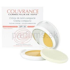 Avene Couvrance kompaktný make-up pre suchú pleť odtieň 04 Honey SPF 30 (Crème de teint compacte - Texture confort) 9,5 g cena od 0,00 €